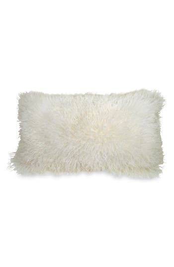 Donna Karan Collection 'Moonscape' Flokati Fur Pillow