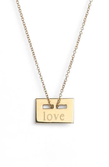 ginette ny 'Mini Love Plate' Pendant Necklace