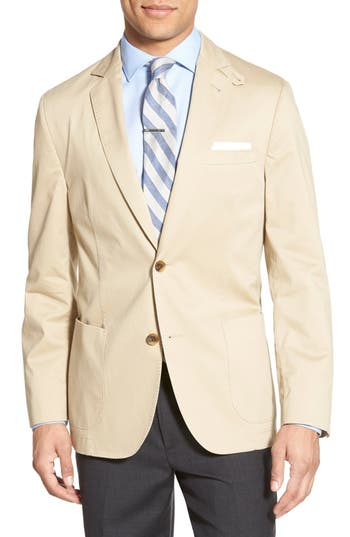Flynt Classic Fit Brushed Cotton Sport Coat