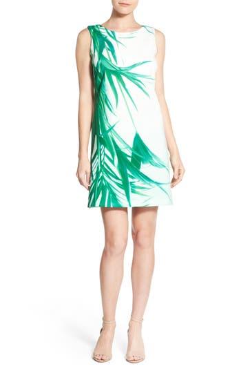 Catherine Catherine Malandrino 'Raffie' Palm Print Shift Dress