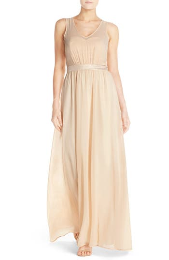 Paper Crown by Lauren Conrad 'Madeline' Shimmer Bodice Gown