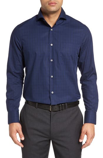 John W. Nordstrom® Regular Fit Non-Iron Check Sport Shirt