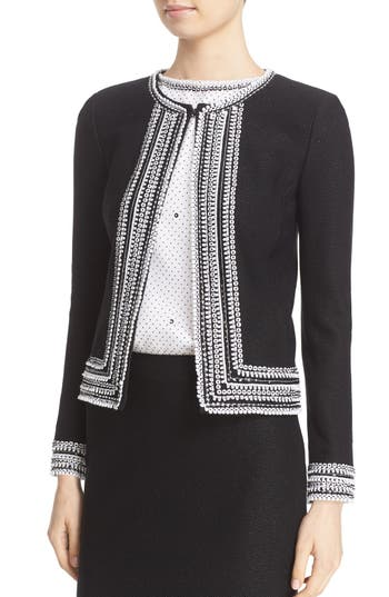 St. John Collection Embellished Knit Jacket