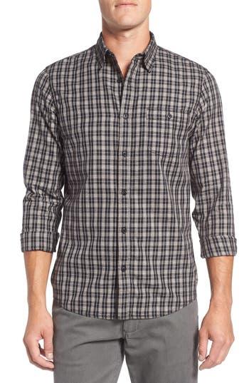 Nordstrom Men's Shop Slim Fit Plaid Sport Shirt
