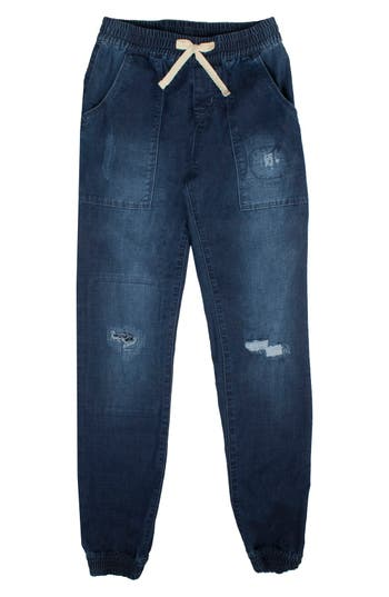 Hudson Kids Distressed Denim Jogger Pants (Big Girls)