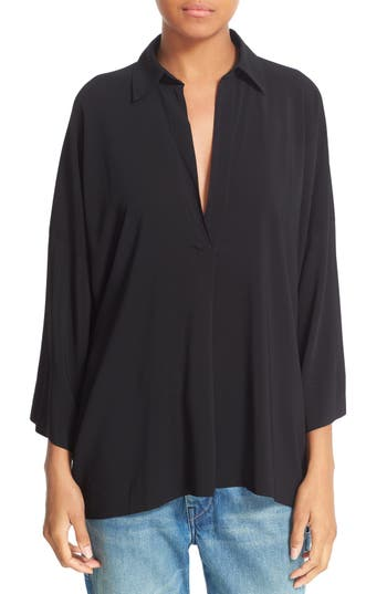 Vince Oversize Johnny Collar Blouse
