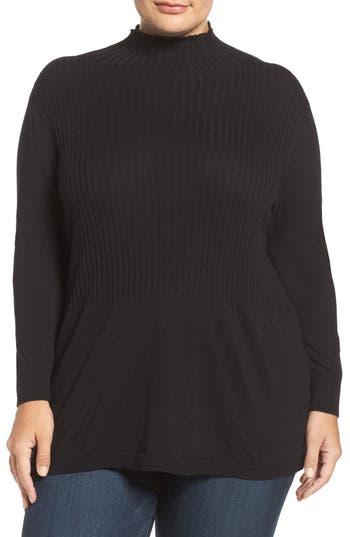 Sejour Mock Neck Sweater (Plus Size)
