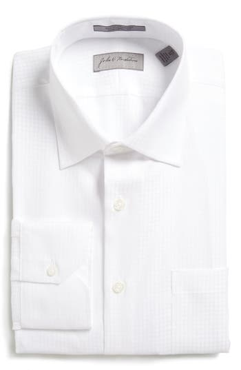 John W. Nordstrom® Traditional Fit Non-Iron Windowpane Dress Shirt
