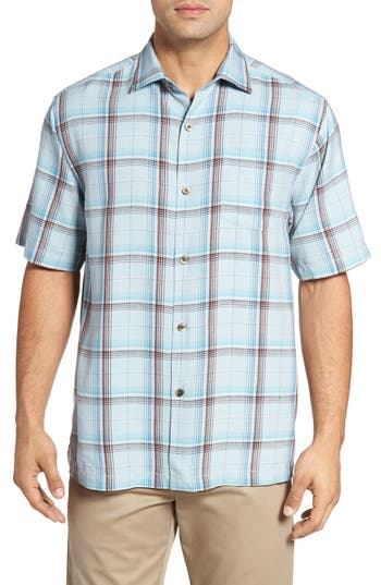 Tommy Bahama Pintinga Plaid Standard Fit Short Sleeve Sport Shirt
