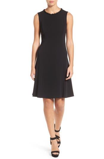 Kobi Halperin Paulina Lace Trim A-Line Dress