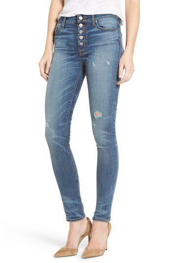 Hudson Ciara High Waist Distressed Skinny Jeans (Disharmony)