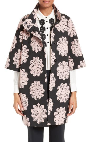 kate spade new york petal stamp jacquard topper
