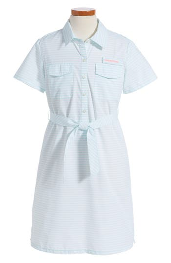 Vineyard Vines Harbor Stripe Shirtdress (Big Girls)