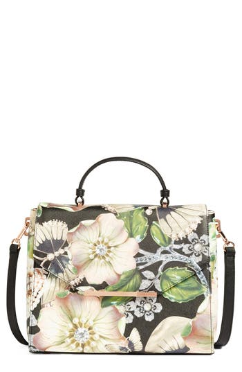 Ted Baker London Gem Gardens Faux Leather Top Handle Satchel