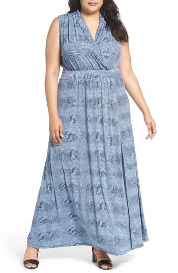MICHAEL Michael Kors Zephyr Print Maxi Dress (Plus Size)
