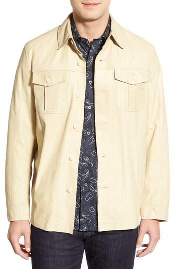 Missani Le Collezioni Leather Shirt Jacket