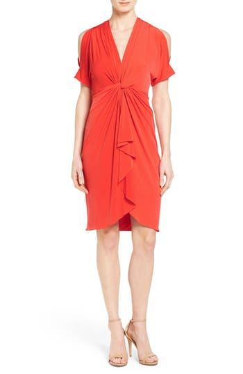 Catherine Catherine Malandrino 'Emily' Cold Shoulder Twist Front Dress