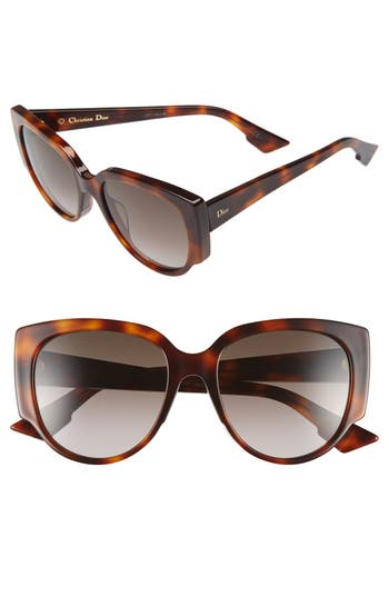 Dior 'Night' 55mm Cat Eye Sunglasses