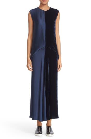 Stella McCartney Double Satin & Velvet Dress