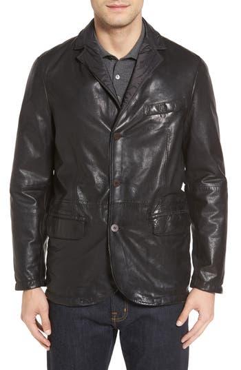 Missani Le Collezioni Reversible Leather & Nylon Sport Coat