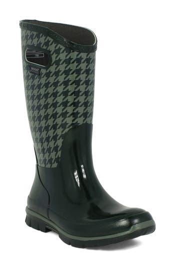 Bogs 'Berkley - Houndstooth' Waterproof Rain Boot (Women)