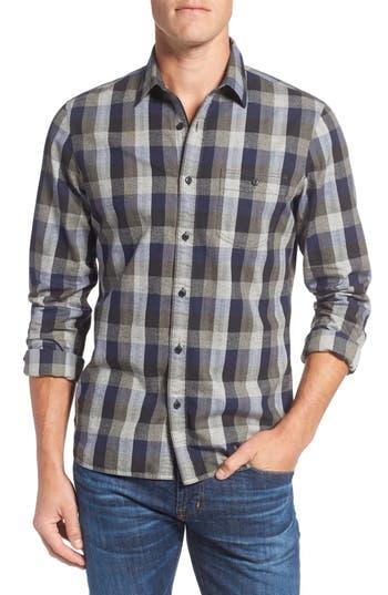 Nordstrom Men's Shop Slim Fit Utility Check Sport Shirt