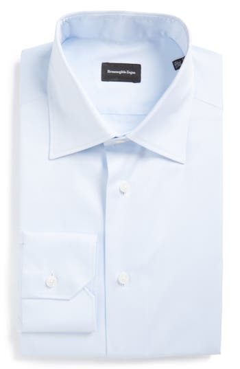 Ermenegildo Zegna Regular Fit Solid Dress Shirt