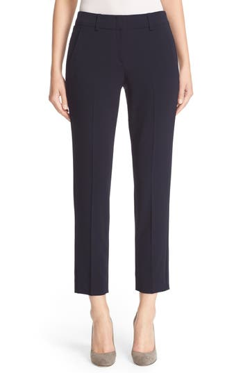 Armani Collezioni Slim Crop Stretch Wool Pants