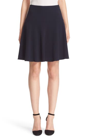 Armani Collezioni Stretch Wool Flutter Skirt