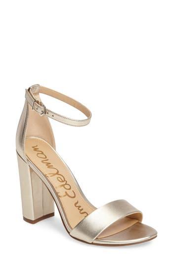 Women's Sam Edelman Yaro Ankle Strap Sandal, Size 7 M - Ivory