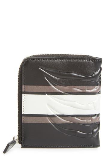 Alexander Mcqueen Leather Half Zip Wallet -
