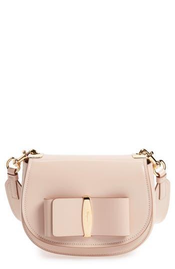 Salvatore Ferragamo Vara Leather Crossbody Bag -