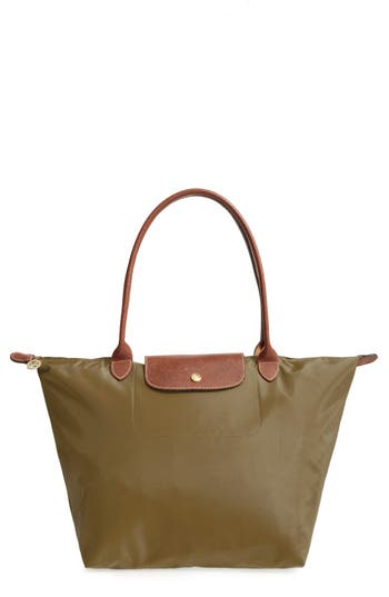 Longchamp 'Large Le Pliage' Tote - Brown