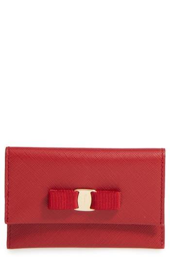 Salvatore Ferragamo Vara Leather Card Case -