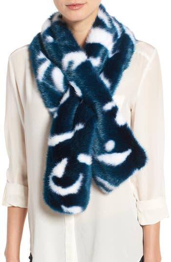 Women's Ted Baker London Colorblock Faux Fur Scarf