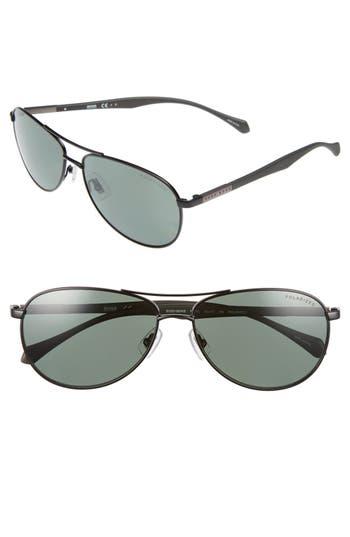 Men's Boss Polarized 60Mm Sunglasses - Matte Black