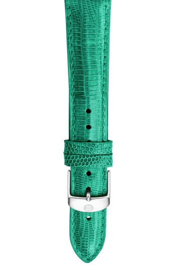 Women's Michele 18Mm Lizardskin Watch Strap
