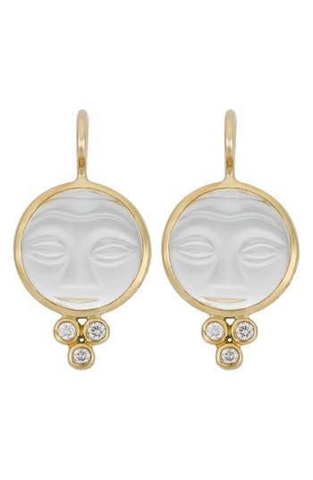 Women's Temple St. Clair Moonface Diamond & Rock Crystal Earrings