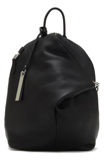 Vince Camuto Small Giani Leather Backpack - Black