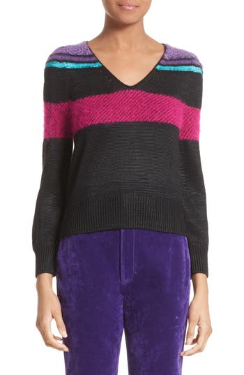 Women's Marc Jacobs '80S Stripe Knit Sweater