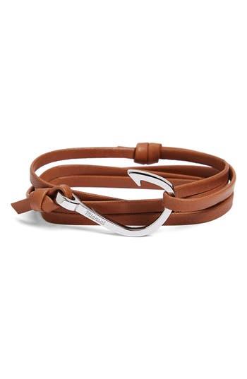Men's Miansai Silver Hook Leather Bracelet