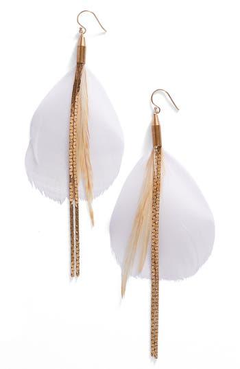 Women's Serefina Vintage Feather Drop Earrings