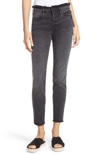 Women's Frame Le High Skinny Frayed High Waist Jeans