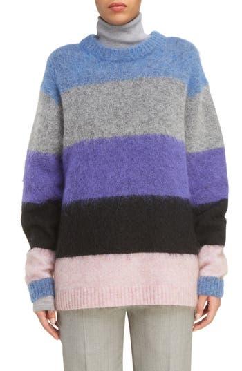 Women's Acne Studios Albah Multistripe Oversize Sweater, Size Medium - None