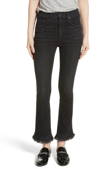 Women's Rag & Bone/jean Hana High Waist Crop Flare Jeans