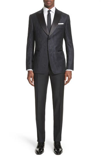 New Vintage Tuxedos, Tailcoats, Morning Suits, Dinner Jackets Mens Z Zegna Slim Fit Wool Tuxedo $1,695.00 AT vintagedancer.com