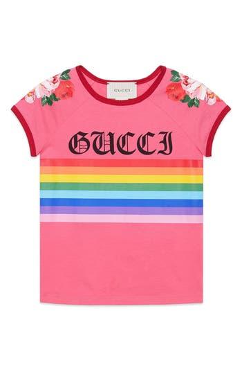 Girl's Gucci Stripe Tee