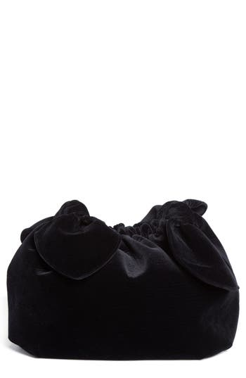 Simone Rocha Velvet Double Bow Clutch - Black