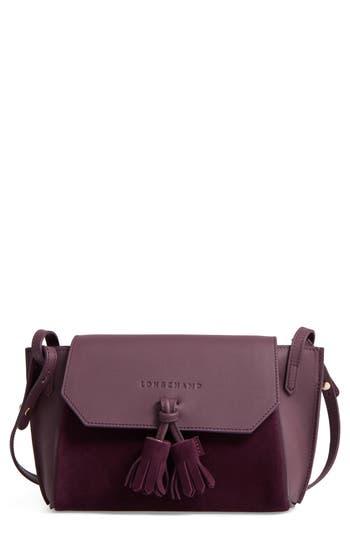 Longchamp Small Penelope Leather Crossbody Bag - Purple