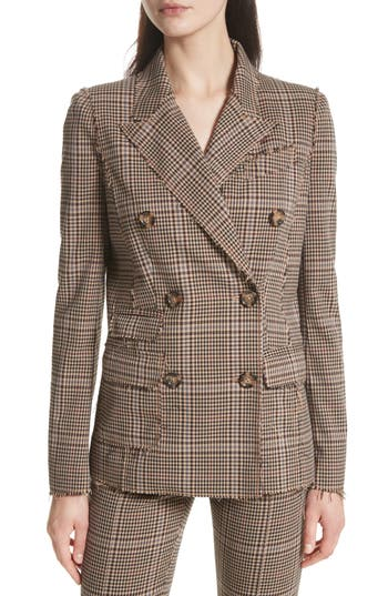 Women's Tracy Reese Double Breasted Plaid Blazer